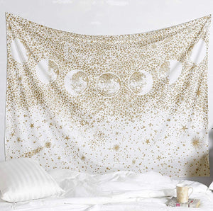 Gold Moon Phase Tapestry - Tapestry Girls