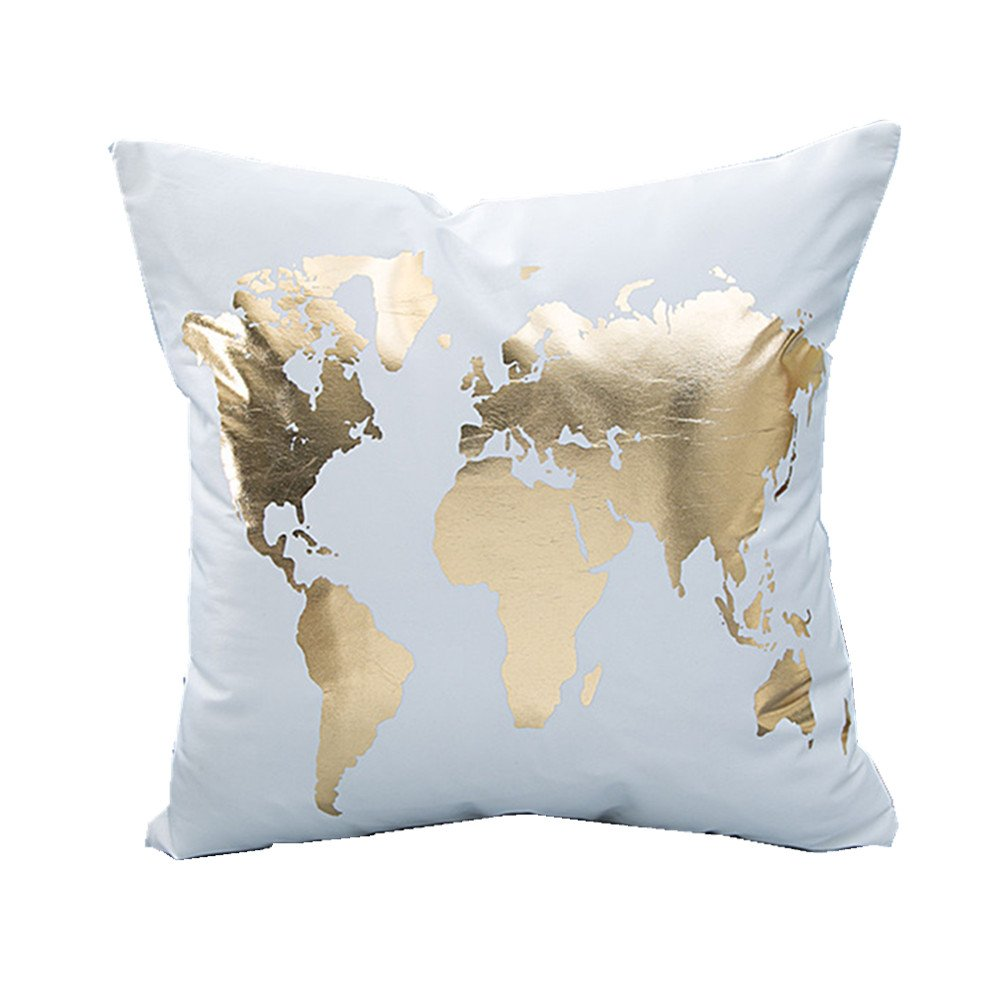 Gold World Pillow - Tapestry Girls