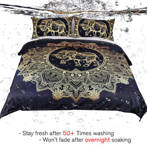 Gold Elephant Bedding - Tapestry Girls