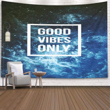 Load image into Gallery viewer, Good Vibes Blue Tapestry - Tapestry Girls