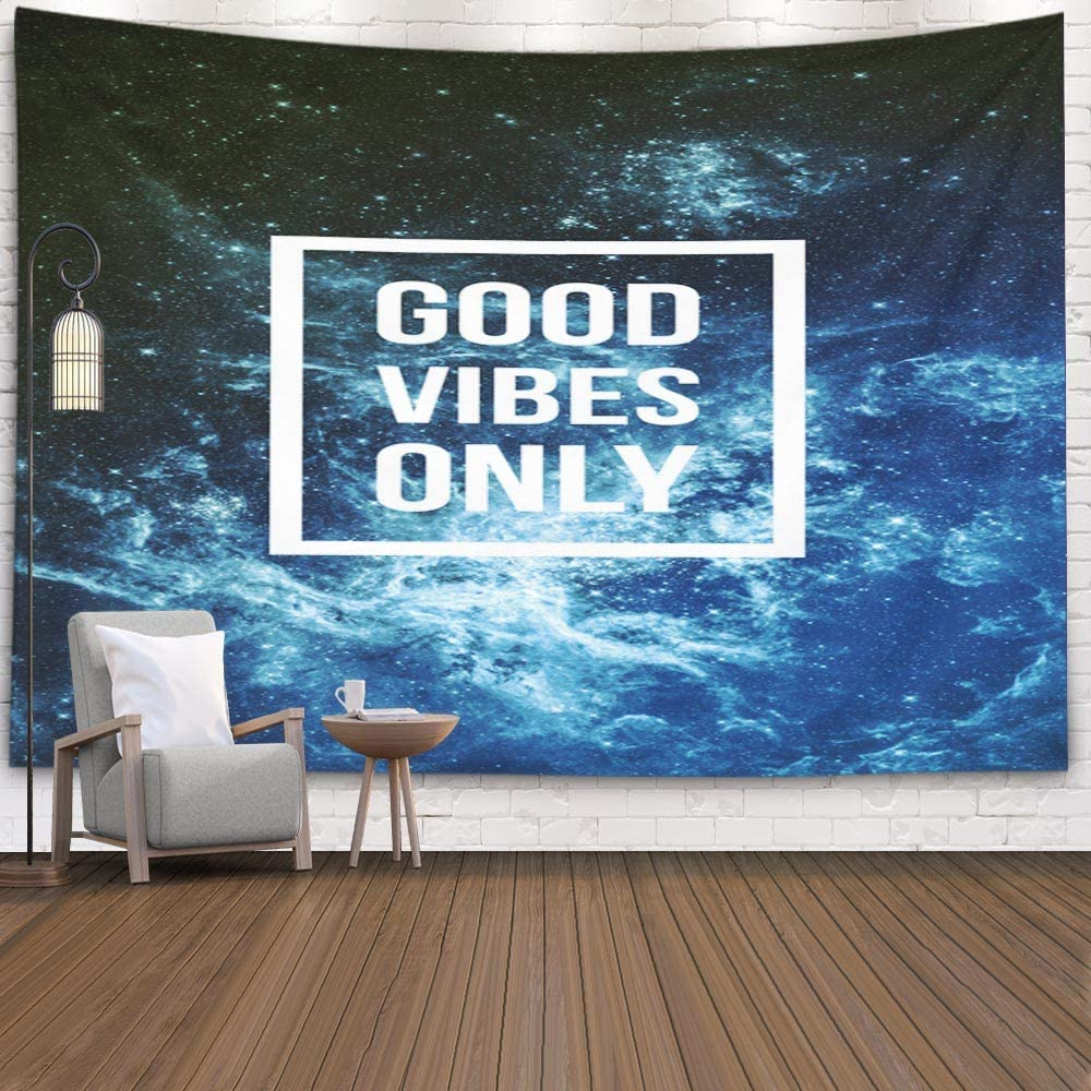 Good Vibes Blue Tapestry - Tapestry Girls
