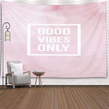 Load image into Gallery viewer, Good Vibes Pink Tapestry - Tapestry Girls