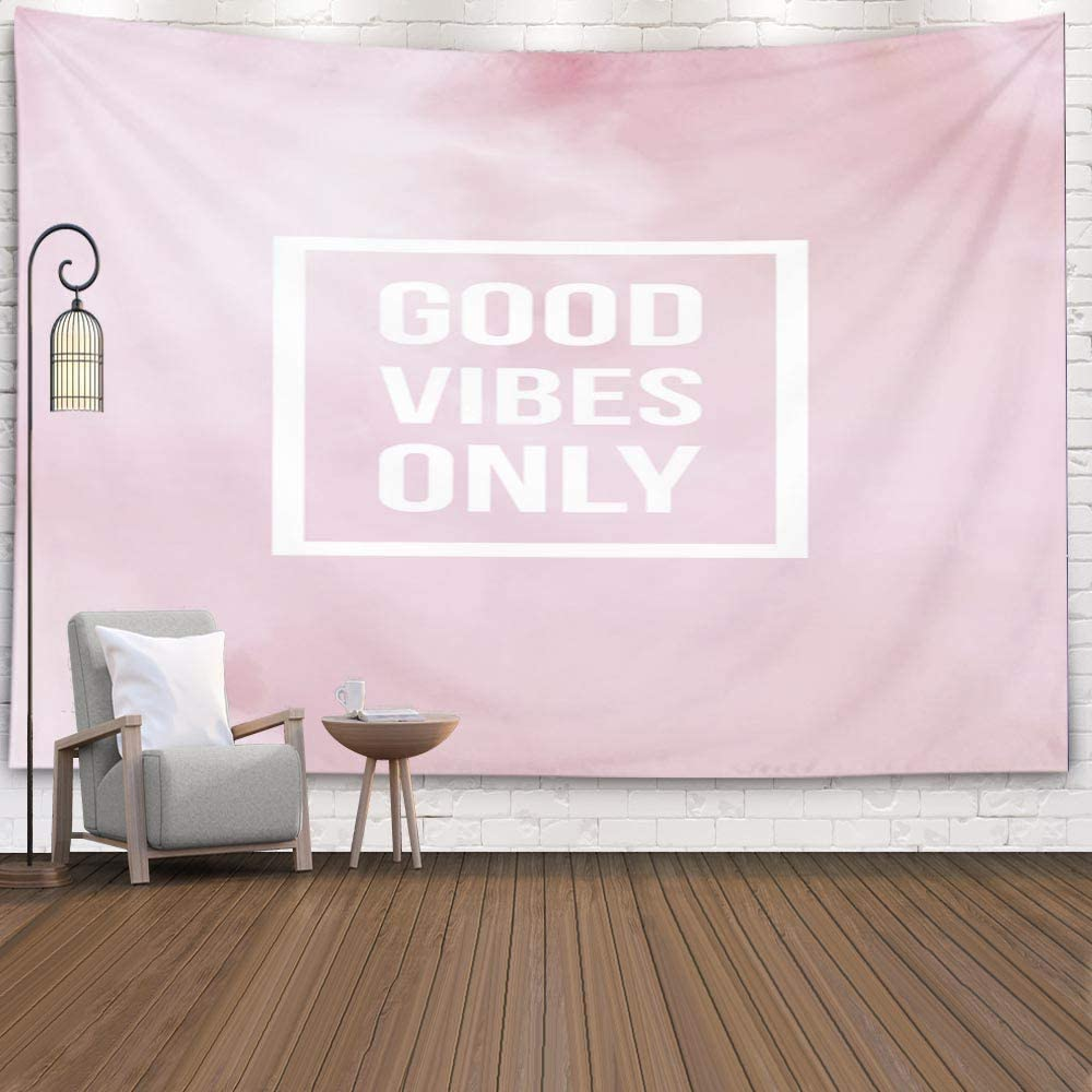 Good Vibes Pink Tapestry - Tapestry Girls