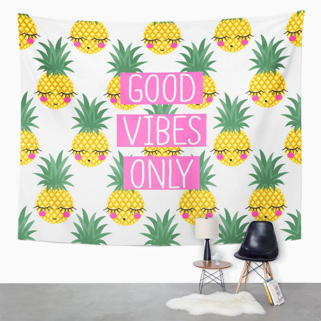 Pineapple Vibes Tapestry - Tapestry Girls