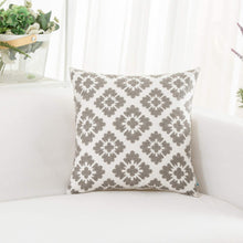Load image into Gallery viewer, Gray Diamond Pillow - Tapestry Girls