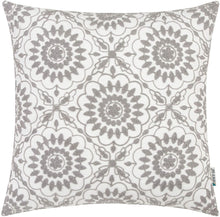 Load image into Gallery viewer, Gray Floral Pillow - Tapestry Girls