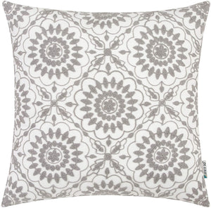 Gray Floral Pillow - Tapestry Girls