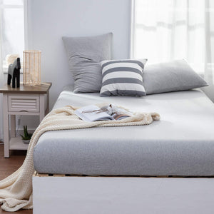 The Loft Light Gray Fitted Sheet Set - Tapestry Girls