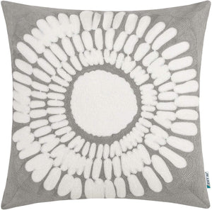 Gray Sunflower Pillow - Tapestry Girls
