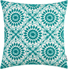 Load image into Gallery viewer, Green Floral Pillow - Tapestry Girls