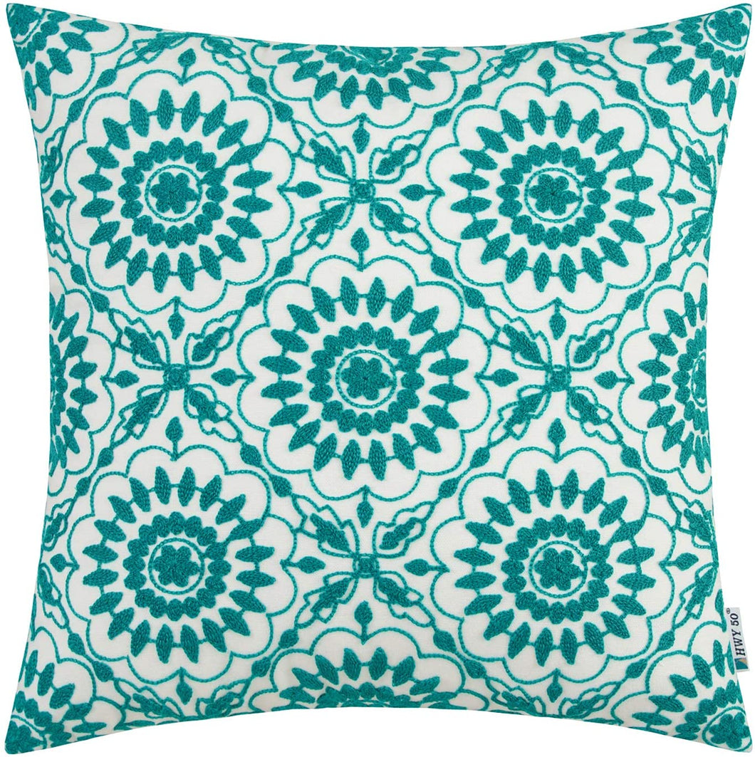 Green Floral Pillow - Tapestry Girls
