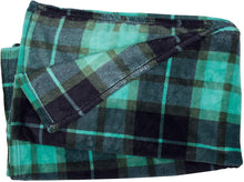 Load image into Gallery viewer, Green Plaid Fleece Blanket - Tapestry Girls