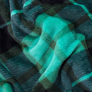 Green Plaid Fleece Blanket - Tapestry Girls