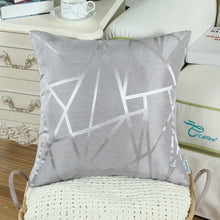 Load image into Gallery viewer, Metallic Décor Grey Pillows - Tapestry Girls