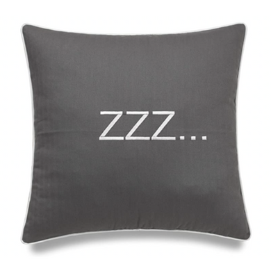 Grey ZZZ Pillow - Tapestry Girls