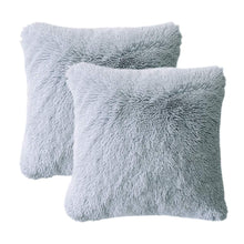 Load image into Gallery viewer, Velvet Plush Grey Pillows - Tapestry Girls