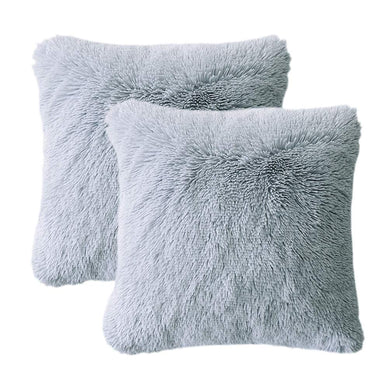 Velvet Plush Grey Pillows - Tapestry Girls