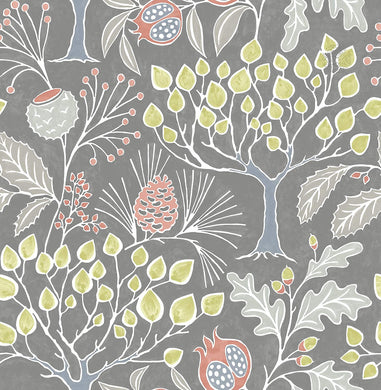 Groovy Garden Grey Removable Wallpaper - Tapestry Girls