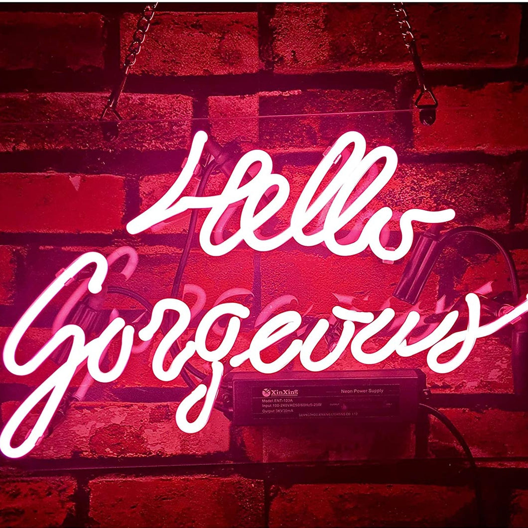 Hello Gorgeous Neon Sign - Tapestry Girls