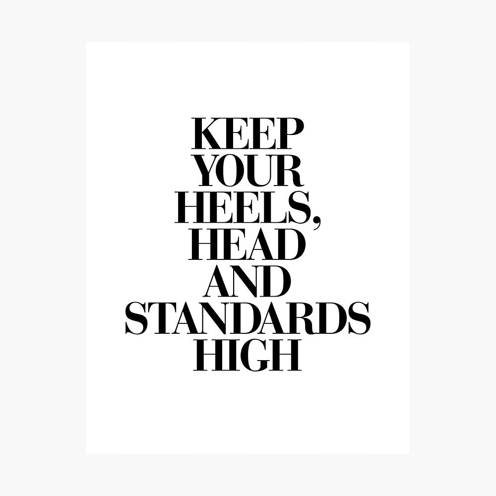 High Standards Poster - Tapestry Girls