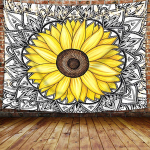 Indian Sunflower Tapestry - Tapestry Girls