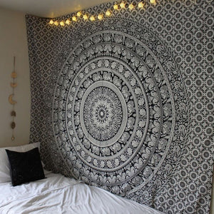 Indian Black & White Tapestry - Tapestry Girls