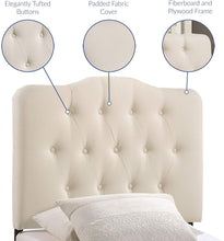 Load image into Gallery viewer, Eliza Ivory Tufted Headboard - Tapestry Girls