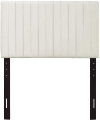 Velvet Ivory Headboard - Tapestry Girls