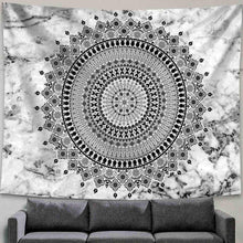 Load image into Gallery viewer, Jet Mandala Tapestry - Tapestry Girls
