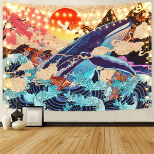 Koi and The Whale Tapestry - Tapestry Girls
