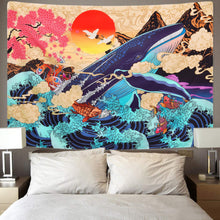 Load image into Gallery viewer, Koi and The Whale Tapestry - Tapestry Girls