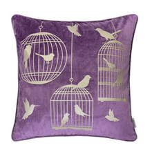 Load image into Gallery viewer, Lavender Bird Luxury Pillow - Tapestry Girls