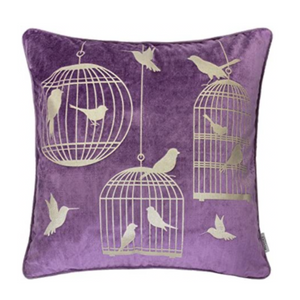 Lavender Bird Luxury Pillow - Tapestry Girls