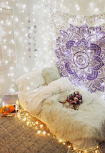 Load image into Gallery viewer, Lavender Mandala Tapestry - Tapestry Girls
