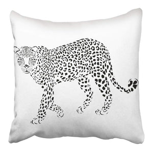 Leopard Silhouette Pillow - Tapestry Girls
