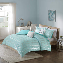 Load image into Gallery viewer, The Metallic Aqua Bed Set - Tapestry Girls