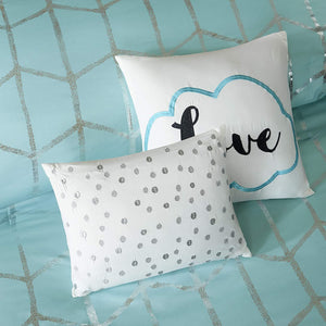 The Metallic Aqua Bed Set - Tapestry Girls