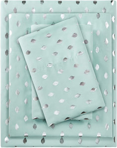 Metallic Aqua Sheet Sets - Tapestry Girls