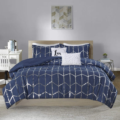The Metallic Navy Bed Set - Tapestry Girls