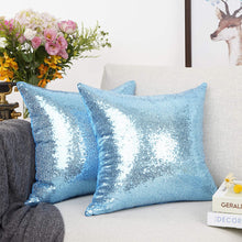Load image into Gallery viewer, Metallic Blue Pillows - Tapestry Girls