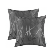 Load image into Gallery viewer, Metallic Décor Dark Grey Pillows - Tapestry Girls