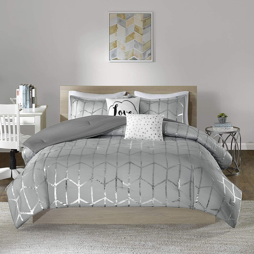 The Metallic Grey Bed Set - Tapestry Girls