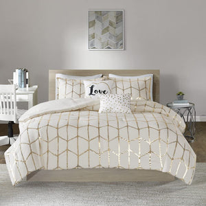 The Metallic Ivory Bed Set - Tapestry Girls