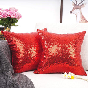 Metallic Red Pillows - Tapestry Girls