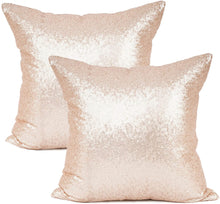 Load image into Gallery viewer, Metallic Rose Gold Pillows - Tapestry Girls