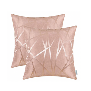 Metallic Décor Rose Gold Pillows - Tapestry Girls