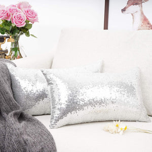 Metallic Silver Pillows - Tapestry Girls