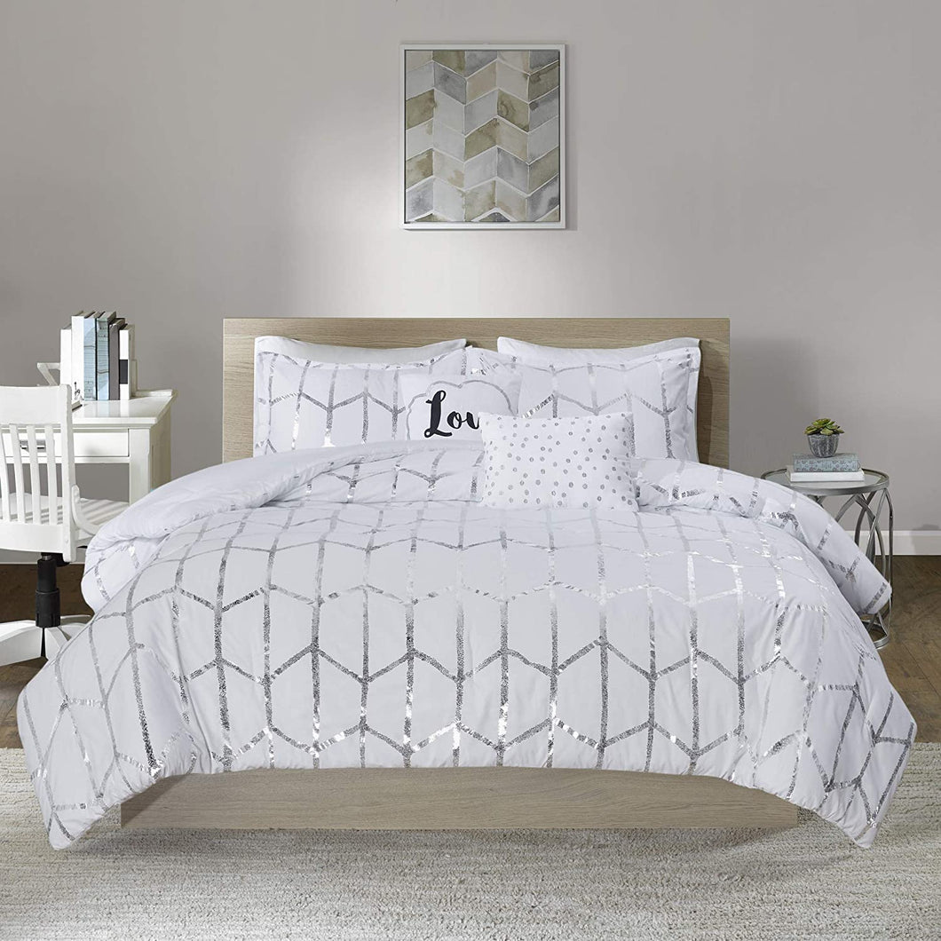 The Metallic White Bed Set - Tapestry Girls