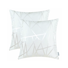 Load image into Gallery viewer, Metallic Décor White Pillows - Tapestry Girls