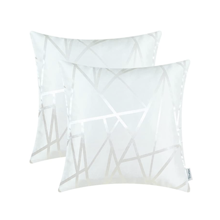 Metallic Décor White Pillows - Tapestry Girls